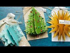 Árboles de Navidad elaboración de Tarjetas//Álbum De Recortes Papel Artesanía Adornos Toppers