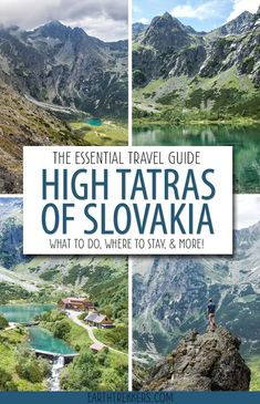 High Tatras Travel Guide. What to do, where to stay, and where to eat in the High Tatras of Slovakia. #hightatras #slovakia #hiking #adventuretravel