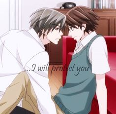 """Junjou Romantica 3 Usami: …i will protect you… Misaki just beautiful words I love one!"