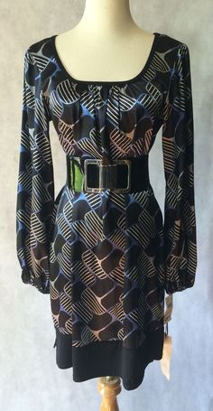 Roulette Graphic Print Wear to Work Career Dress Sz S | eBay