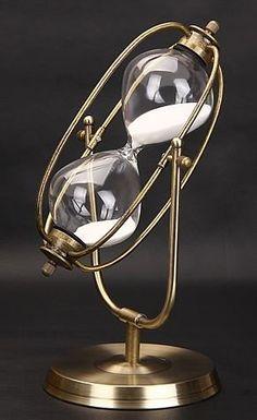 砂時計 回転式 30分計 ブロンズ枠 アンティーク風 (ホワイト) 532P19Apr16