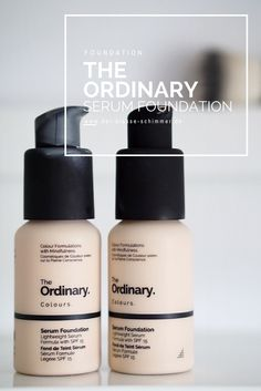 The Ordinary Serum Foundation The Ordinary Serum, Beauty Hacks, Shampoo, Let It Be, Bottle, Face, Foundation, Skincare Routine, Simple