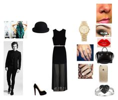 """""""VMA'S WITH DA BAE!"""" by polyluva4 on Polyvore featuring mode, Christian Louboutin, Mela Loves London, Givenchy, Zara, Ice, Rifle Paper Co, Pieces et Michael Kors"""