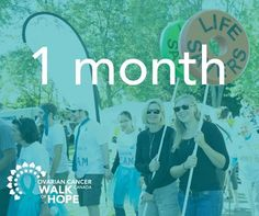 A month from today is the 12th Ovarian Cancer Canada Walk of Hope! Who's excited?!?! This next month is going to fly by. We have the paint night in two weeks and then the walk is shortly after that. Keep an eye out on our page for information about the walk this year. Will be posting everything you need to know :) Countdown has officially started! Cancer Walk, Thing 1 Thing 2, Walking, Canada, Events, Paint, Eye, Night, Movie Posters