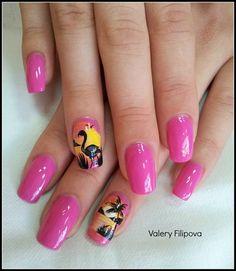 Flamingo by ValeryFilipova - Nail Art Gallery nailartgallery.nailsmag.com by Nails Magazine www.nailsmag.com #nailart