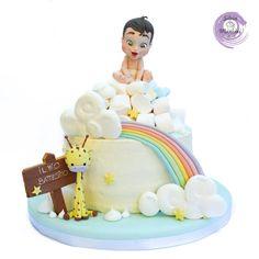 HAPPY BAPTISM  ANDREA !!! by Silvia Mancini Cake Art