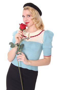 Sugar Shock Branka 30s 40s retro jumper sweater shirt at Suicide Glam
