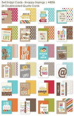 Project Life cards