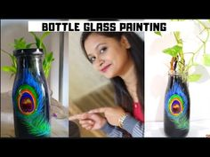 Hi, Everyone ,in this video we will learn how to paint glass bottle with acrylic glass paint. Materials required: acrylic glass paint or craft acrylic pai. Painted Glass Bottles, Glass Paint, Bottle Painting, Learn To Paint, Craft Work, Creative Crafts, Pastel Colors, Projects To Try, Make It Yourself