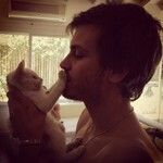 Andres gil y su gatito
