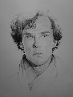 "aumael: ""His last vow "" Sherlock Holmes Benedict Cumberbatch, Benedict Sherlock, Sherlock John, Pencil Portrait, Portrait Art, Portraits, Sherlock Drawing, Imitation Game, Sherlock Poster"
