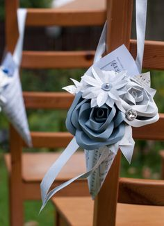 Wedding Paper Cone Aisle Marker Decoration by DiddleBug on Etsy https://www.etsy.com/listing/210428329/wedding-paper-cone-aisle-marker