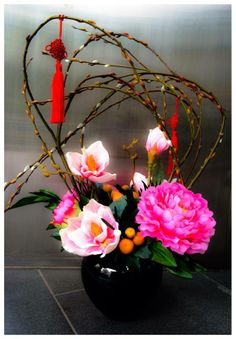 Chinese New Year Flower, Chinese Theme, Chinese New Year Crafts, Chinese Flowers, Chinese New Year Decorations, New Years Decorations, New Year's Crafts, Diy And Crafts, Art Flowers