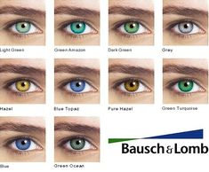 Why Bausch and Lomb Contact Lenses Sell the Most Tinted Contact Lenses, Contact Lenses For Brown Eyes, Natural Contact Lenses, Coloured Contact Lenses, Natural Color Contacts, Best Colored Contacts, Eye Color Chart, Lenses Eye, Corte Y Color