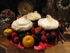 Pink Grapefruit Meringue Pies from CookingChannelTV.com--use reviewer comments