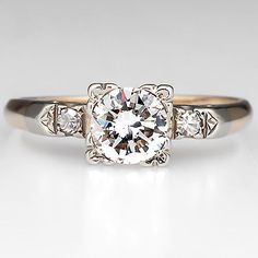 vintage engagement rings 1940s - Google Search