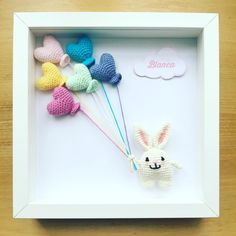 "Aquí está lo que iba hacer con el conejito 🐰, aún no está terminado este cuadrito. Estoy…"" Bunny Crochet, Crochet Box, Crochet Gifts, Crochet Doilies, Crochet Wall Art, Crochet Home Decor, Nursery Frames, Crochet Garland, Wedding Doll"