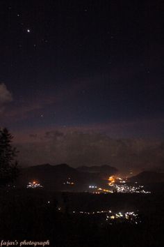 Night at cloud country