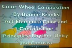 COLOR WHEEL COMPOSITION  from Brooks Art Gallery on TeachersNotebook.com -  (1 page)  - This art video lesson by Bonnie Brooks, the students will put together a composition placing their choice of object in the colors wheel order. They will learn the elements of art primary and secondary color along with contour line.