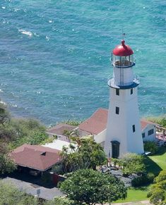 Lights I worked on: Diamond Head Light, Oahu, Hawaii. Official residence of the Coast Guard District commander.