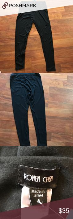 Ronan Chen black pants These black pants are buttery soft and in excellent condition. Pants Leggings