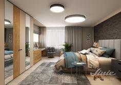 brick wall modern bedroom design Modern Bedroom Design, Brick Wall, Studios, Divider, Furniture, Home Decor, Decoration Home, Room Decor, Brick Walls