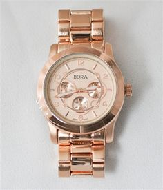 <3 ONLY $12 ~ CRAZY FLASH SALE OF THE DAY <3 ~ Rose Gold Boyfriend Watch ~ #BUYME ~ 8/9/13
