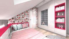 Wystrój wnętrz - Pokój dziecka dla dziewczynki - pomysły na aranżacje. Projekty… Small Room Bedroom, Girls Bedroom, Girl Room, Baby Room, Chula, Kids Room Design, Modern Decor, Toddler Bed, Inspiration