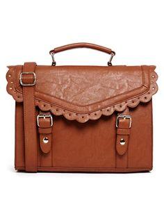ASOS Vintage Style Punchout Satchel Bag