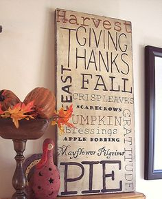 Handpainted Thanksgiving Subway Sign | Flickr - Photo Sharing!