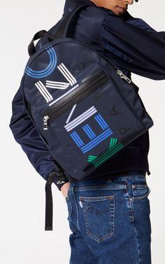 8e88d8def3 INK Large KENZO logo multico backpack for women Kenzo Clothing, Men's  Backpack, Motorcycle Jacket