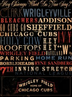 Chicago Cubs art from Etsy.