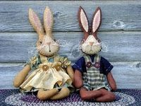 Moldes Para Artesanato em Tecido: coelho de Pascoa com molde