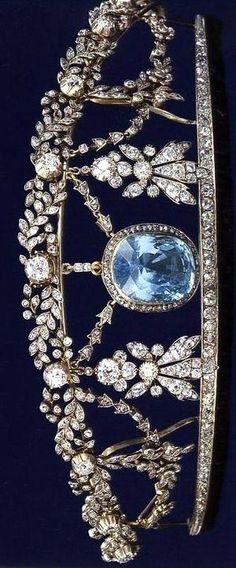 The Aquamarine tiara, 19th Century. by kathie