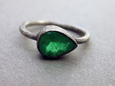 engagement ring wedding ring birthstone modern by jaimejofisher