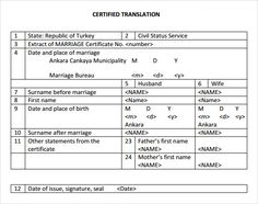 Birth certificate translation of public legal documents marriage certificate translation template birth russian best free home design idea inspiration yelopaper Gallery
