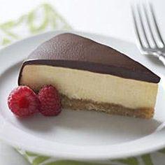 Banana Orange Cheesecake With Chocolate Espresso Ganach