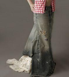 - Trashion Helsinki -: DIY tutorial - denim maxi skirt