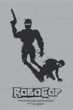 robocop affiche film minimaliste