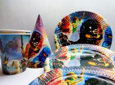 Papier-Geschirr Ninjago. Papier-Geschirr für Kinder Urlaub oder Geburtstag. Set für Kinder Urlaub, Party oder Geburtstag. Ninjago Partei.