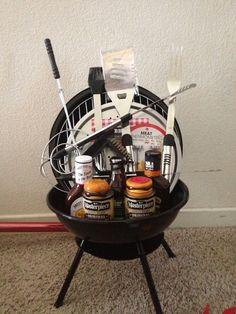 Gotta get something like this together to raffle off at relay of volunteer with via volunteers in south africa and make a difference bbq theme raffle basket see more about raffle baskets baskets and basket ideas negle Images