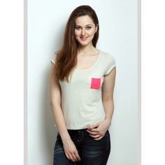 RIGO Acro Melange Tee with Hot Pink Pocket Rs 100/- OFF, use coupon code SNEHA100