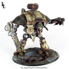 Deathguard Knight Titan Gallant Commission ~ LilLegend Commission Painting Studio Warhammer Models, Warhammer 40k, Painting Studio, Painting Tips, Fallout Weapons, Imperial Knight, Painting Services, The Grim, Gw