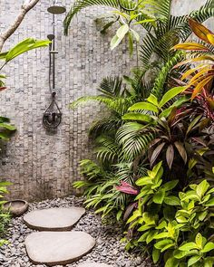 Outdoor Bathrooms 290341507231725687 – When showering in Bali becomes an experi… Tropical Showers, Tropical Bathroom, Outdoor Baths, Outdoor Bathrooms, Outdoor Kitchens, Indoor Outdoor, Bali Villa, Outside Showers, Outdoor Showers