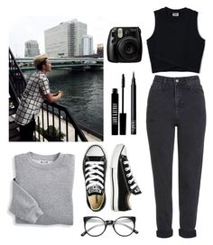 """""""Untitled #157"""" by spisakreka ❤ liked on Polyvore featuring Topshop, Blair, Converse, Fujifilm, Lord & Berry and NARS Cosmetics"""