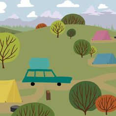 We're Going Camping - Campground - Once at the campground it's time to find a open camping spot. Camping road trip wall art. #campingroadtrips #weregoingcamping #letsgocampingnow #letsgocampingtoday #Iwishiwascamping #tentinglife #Tentcampinglife #campingaddiction #campingadventure #Campinglifeforme #campingart #campingartwork
