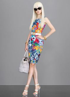 Versace Vintage Floral Printed Dress