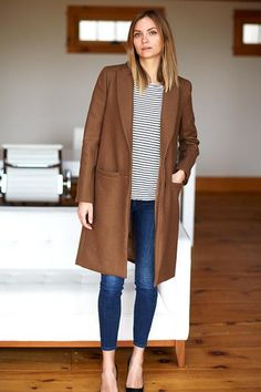 Tailored Coat - Camel Wool | Emerson Fry