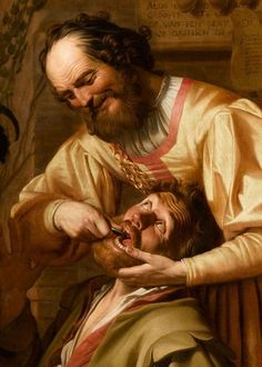 The Tooth Puller (detail) - Gerrit van Honthorst (c. 1627)