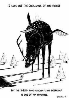 Favorite Creatures of the Forest Art Print is part of Cool drawings Simple Tat - sebreg Inspiration Art, Art Inspo, Character Inspiration, Fantasy Kunst, Fantasy Art, Fantasy Comics, Anime Fantasy, Dark Fantasy, Illustrator